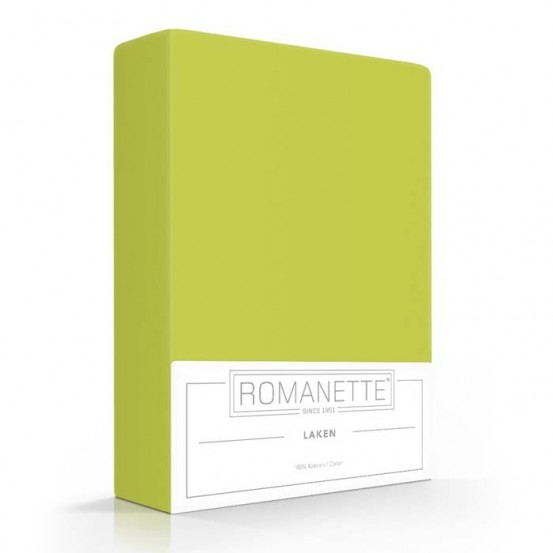 Katoenen Lakens Romanette Lime