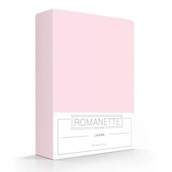 Katoenen Lakens Romanette Roze