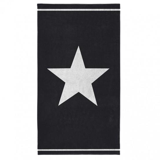Seahorse Strandlaken Star Black