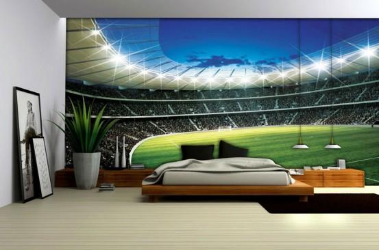 Voetbalstadion Fotobehang L