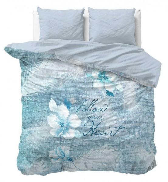 Sleeptime Blossom 2 Dekbedovertrek Turquoise