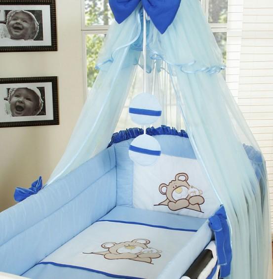 My Sweet Baby Sluier Voile Blauw Cirkels