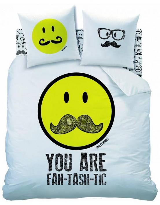 Dekbedovertrek Moustache Smiley