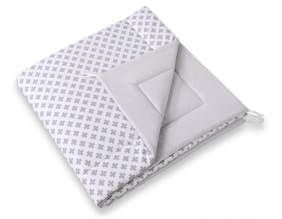 Speelkleed Tipi Tent Cross Pattern Grey