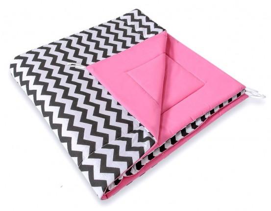 Speelkleed Tipi Tent Chevron Black-Pink