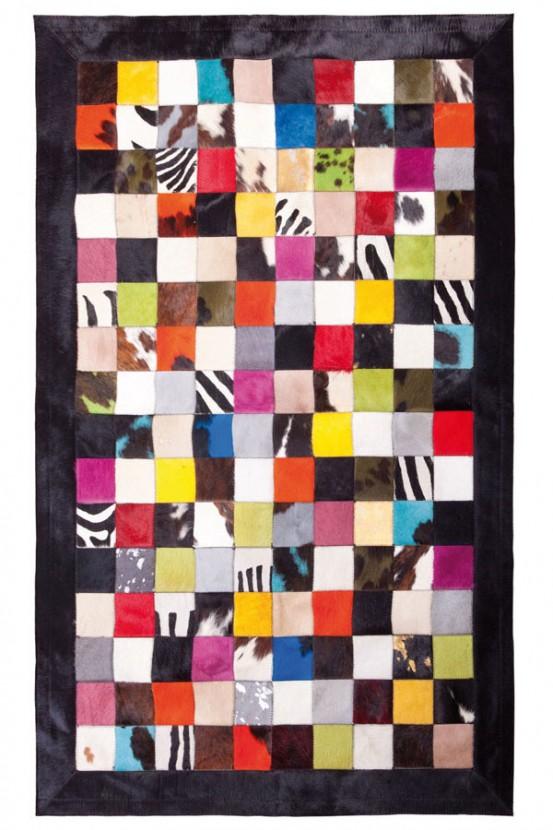 """Tapijt Koeienvel """"Multicolor"""" 180 x 240 cm"""