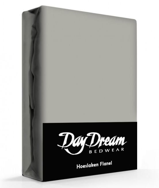 Flanellen Hoeslaken Grijs Day Dream