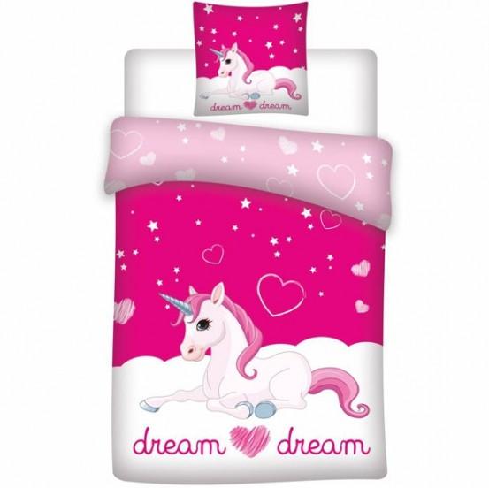 Unicorn Dekbedovertrek Dream Roze