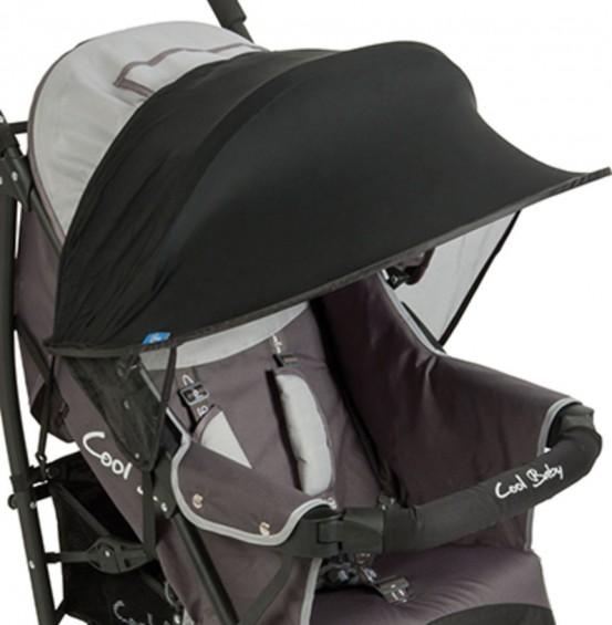UV Kap Bescherming voor Kinderwagens Zwart