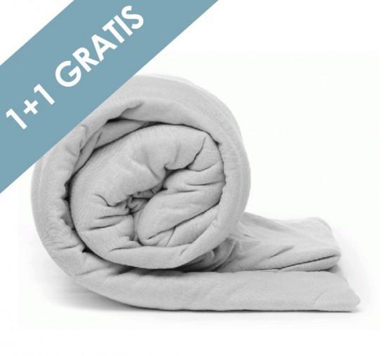 Voordeelpack Jersey Hoeslaken Grey 1 + 1 GRATIS