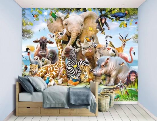 Jungle Safari Fotobehang (Walltastic)