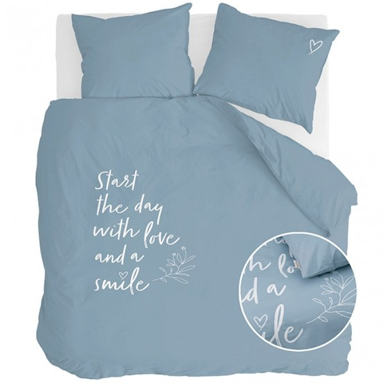 Walra Dekbedovertrek Smile with Love Jeans Blauw