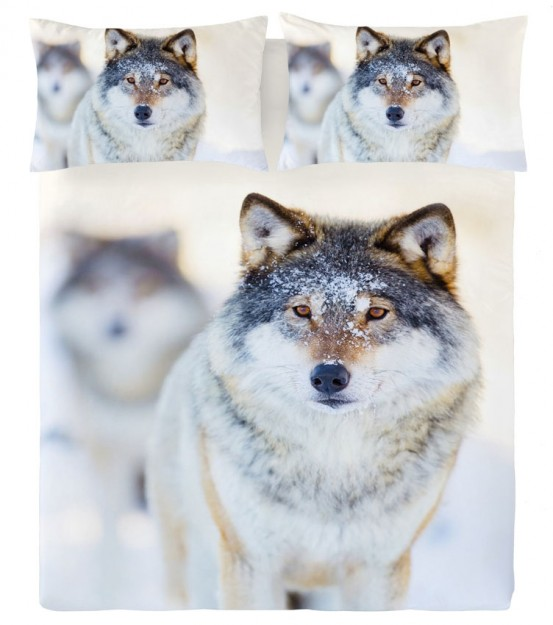 Zavelo Dekbedovertrek Winterwolf