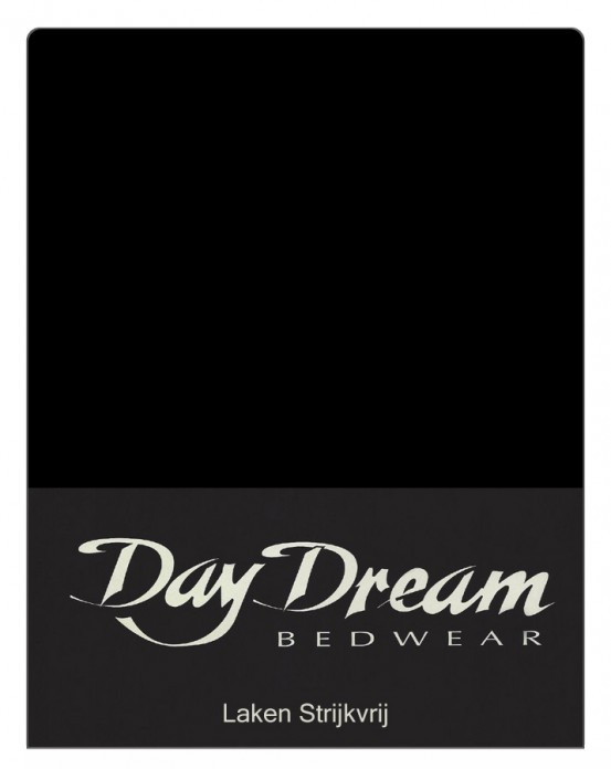 Lakens Katoen Zwart Day Dream