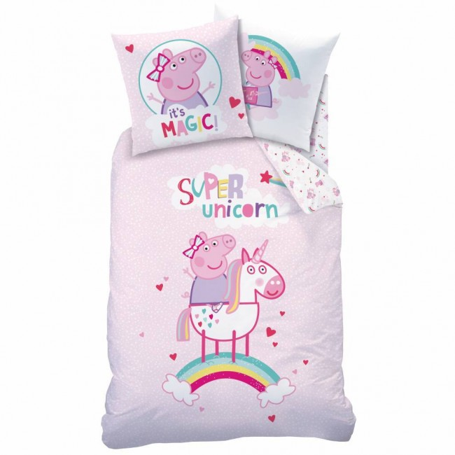 Peppa Pig Dekbedovertrek Unicorn