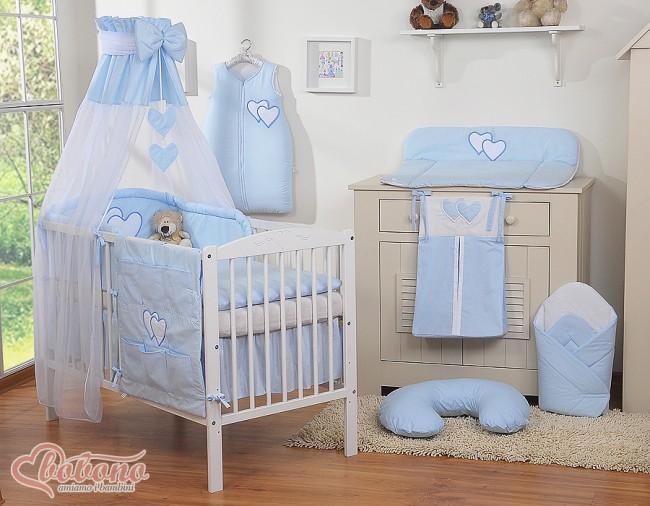 3 delig bedset two hearts voile katoen blauw for Materasso bimbo ikea