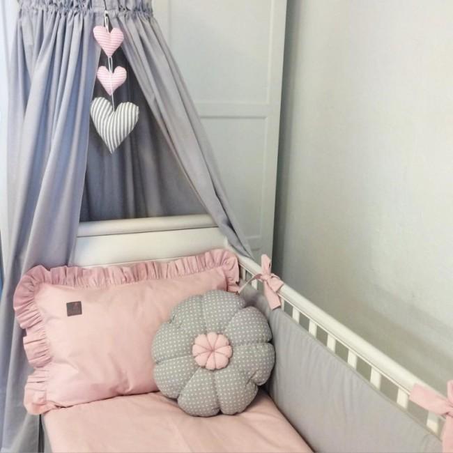 Bedwelming Dekbedovertrek Dolly Uni Roze | Effen ledikant dekbedovertrek #SO91