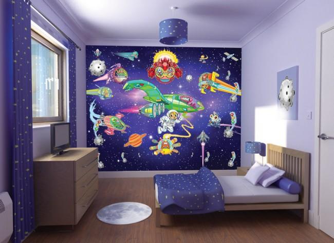 Behang Kinderkamer Ruimtevaart : Ruimtevaart avontuur fotobehang walltastic