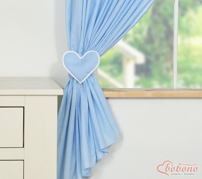 my sweet baby gordijn two hearts blauw 2 stuks zoom