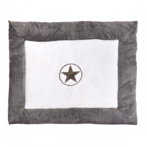 Jollein Boxkleed Circle Star Coral Fleece 80x100cm Grey