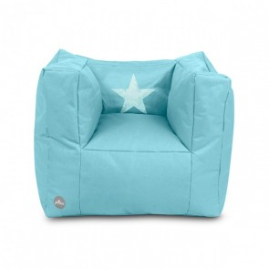 Fauteuiltje beanbag Faded star lagoon (Limited edition)