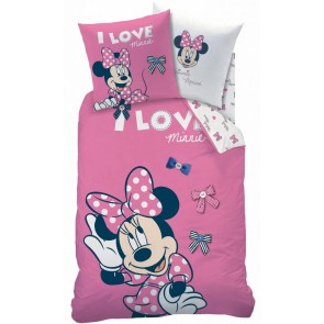 Minnie Mouse Stylish Rose Dekbedovertrek