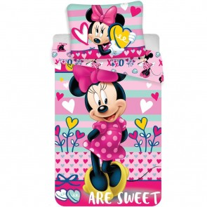 Disney Minnie Mouse Dekbedovertrek Hearts Multi