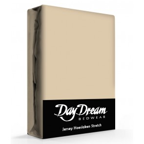 Day Dream Jersey Hoeslaken Nougat-90 x 200 cm