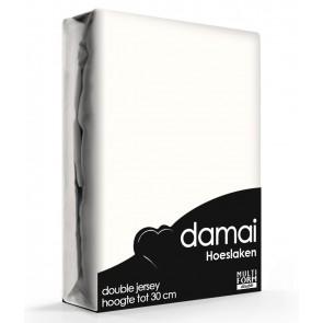 Damai Multiform Double Jersey Hoeslaken Wool White