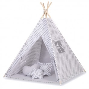 Tipi Speeltent Cross Pattern Grey