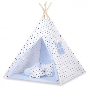 Tipi Speeltent Stars Black-Blue