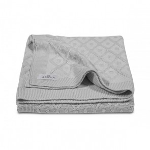 Jollein Deken 75x100cm Diamond knit grey