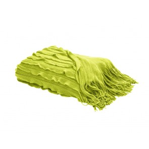 Home Living Plaid Volants Lime