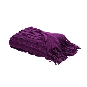 Home Living Plaid Volants Purple