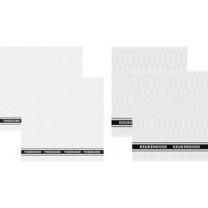 DDDDD Keukendoeken En Theedoeken Pelle White (2+2 stuks)