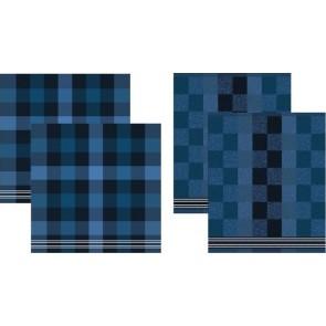 DDDDD Keukendoeken En Theedoeken Feller Blue (2+2 stuks)