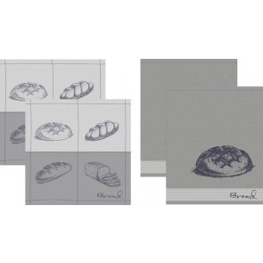 DDDDD Keukendoeken En Theedoeken Bread Grey (2+2 stuks)