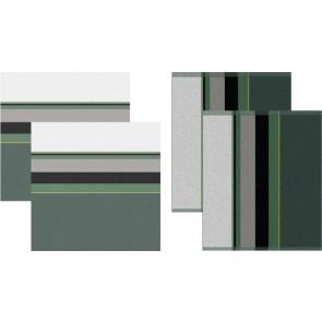 DDDDD Keukendoeken En Theedoeken Rico Green (2+2 stuks)