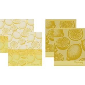 DDDDD Keukendoeken En Theedoeken Citrus Yellow (2+2 stuks)