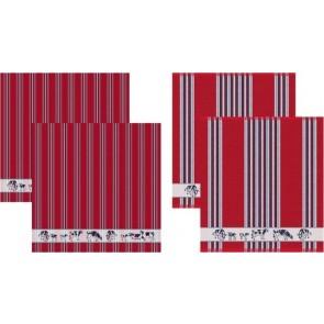 DDDDD Keukendoeken En Theedoeken Friesian Red (2+2 stuks)