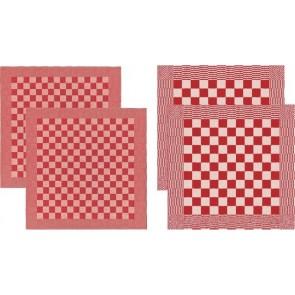 DDDDD Keukendoeken En Theedoeken Barbeque Red (2+2 stuks)