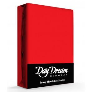 Day Dream Jersey Hoeslaken Rood-90 x 200 cm