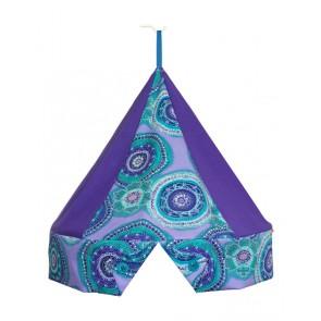Klamboekroon Circels Aqua/paars met Klamboe