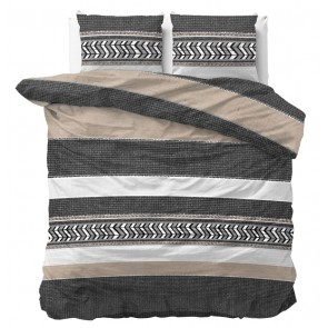 Dreamhouse Dekbedovertrek Northern Stripe Taupe