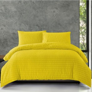 Zensation Dekbedovertrek Jacquard Ochre Yellow