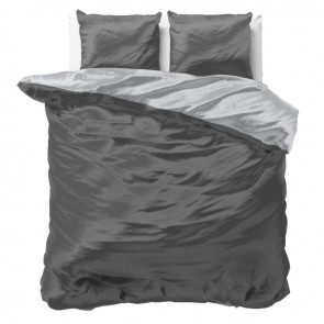 Sleeptime Dekbedovertrek Beauty Double Face Grey/Anthracite