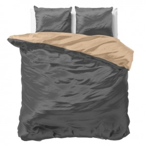 Sleeptime Dekbedovertrek Beauty Double Face Taupe/Anthracite
