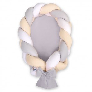 My Sweet Baby Babynestje 2-in-1 Grijs-Beige-Wit