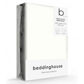 Beddinghouse Jersey-Lycra Hoeslaken Offwhite