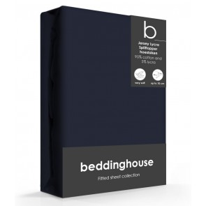 Beddinghouse Splittopper Hoeslaken Jersey Indigo